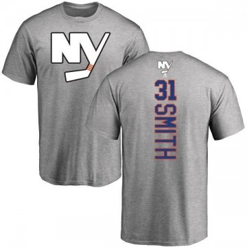 Men's Billy Smith New York Islanders Backer T-Shirt - Ash