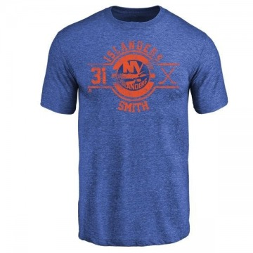 Men's Billy Smith New York Islanders Insignia Tri-Blend T-Shirt - Royal