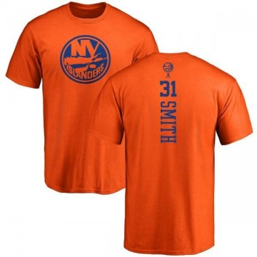 Men's Billy Smith New York Islanders One Color Backer T-Shirt - Orange