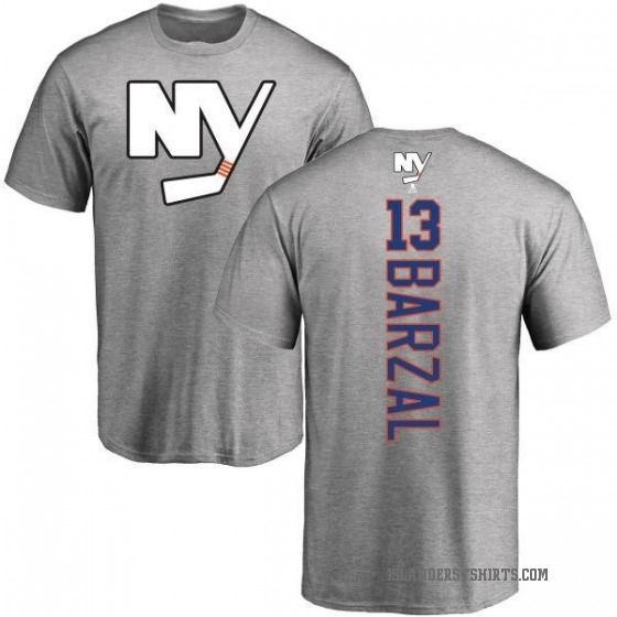 Men's Mathew Barzal New York Islanders Backer T-Shirt - Ash