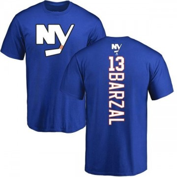 Men's Mathew Barzal New York Islanders Backer T-Shirt - Royal
