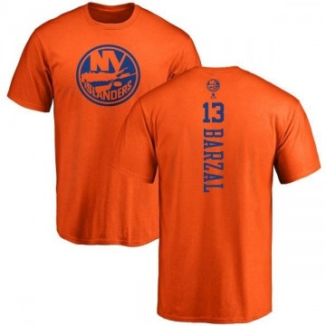 Men's Mathew Barzal New York Islanders One Color Backer T-Shirt - Orange