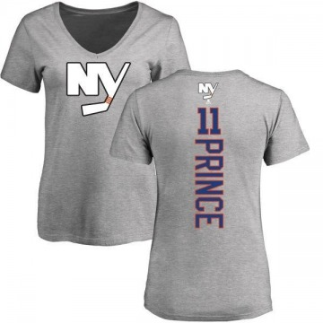 Women's Shane Prince New York Islanders Backer T-Shirt - Ash